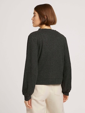Ribbed cardigan with balloon sleeves - 2 - TOM TAILOR Denim
