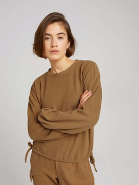 Ribbed jumper with bows on the waistband - 5 - TOM TAILOR Denim