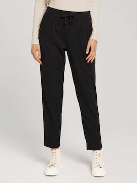 Trousers with pleating and a drawstring - 1 - TOM TAILOR Denim