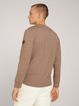 Long-sleeved shirt in a melange look - 2 - TOM TAILOR