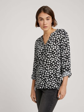 Tunic with a V-neckline and button tab - 5 - TOM TAILOR Denim