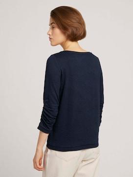 Gepunktetes Sweatshirt mit Rippbündchen - 2 - TOM TAILOR Denim