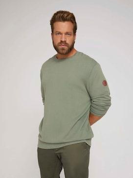strukturierter Pullover - 5 - Men Plus