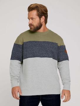 Sweatshirt mit Colour Blocking - 1 - Men Plus