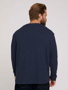 getextureerd overhemd met lange mouwen - 2 - Men Plus