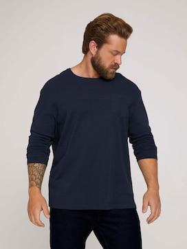 getextureerd overhemd met lange mouwen - 5 - Men Plus