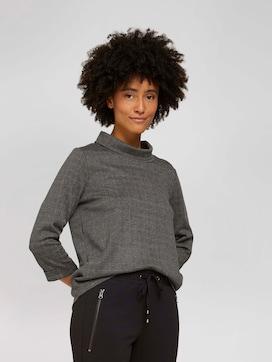 Kariertes Sweatshirt mit Rollkragen - 5 - TOM TAILOR