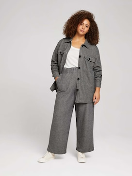 Curvy - wide fabric trousers with an elastic waistband - 3 - My True Me