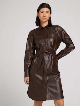 Hemdkleid aus Kunstleder - 5 - TOM TAILOR