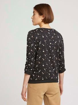 Sweatshirt mit Rippbündchen und Faltenlegung an den Ärmeln - 2 - TOM TAILOR Denim