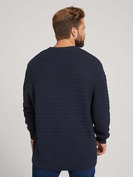 strukturierter Pullover - 2 - Men Plus