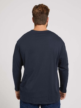 long-sleeved shirt with a print - 2 - Men Plus