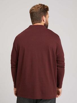 Gestreept shirt met lange mouwen en kraag - 2 - Men Plus