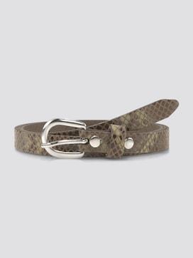 Leder-Taillengürtel mit Schlangenprint - 7 - TOM TAILOR