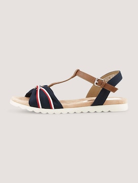 strappy sandals with leather details - 7 - TOM TAILOR