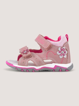 Sandalen mit Klettverschluss und Blumen - 7 - TOM TAILOR