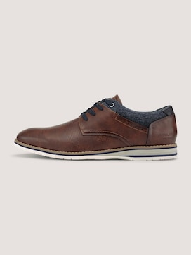 Textured lace-up shoes - 7 - TOM TAILOR