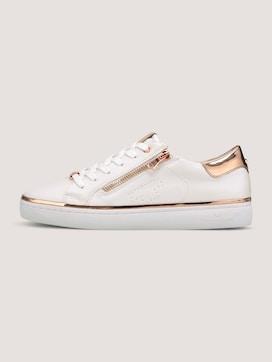 Metallic Sneaker mit Reißverschluss-Details - 7 - TOM TAILOR