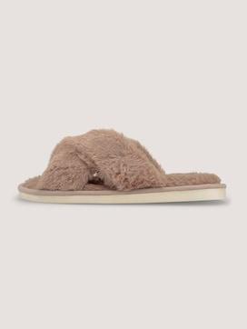 Pantoffels met imitatiebont - 7 - TOM TAILOR