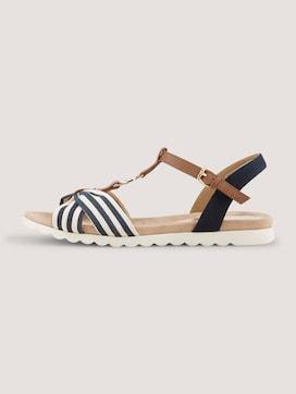 Sandale mit Streifendetail - 7 - TOM TAILOR