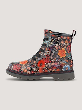 Boots with a floral pattern - 7 - TOM TAILOR