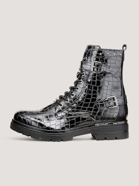 Boot with a snakeskin pattern - 7 - TOM TAILOR