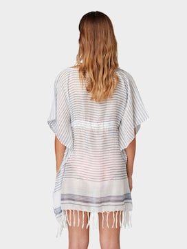 Tunic with tassels with gathering - 2 - TOM TAILOR