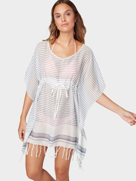 Tunic with tassels with gathering - 5 - TOM TAILOR