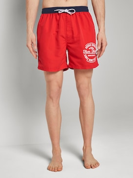 Swimming trunks with a contrasted waistband - 1 - TOM TAILOR