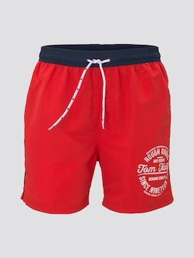 Swimming trunks with a contrasted waistband - 7 - TOM TAILOR