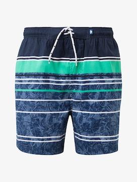 Patterned swimming trunks - 7 - TOM TAILOR