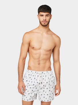 Swimming trunks with a palm tree pattern - 1 - TOM TAILOR