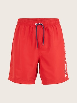Swimming trunks with a large letter print on the side - 7 - TOM TAILOR
