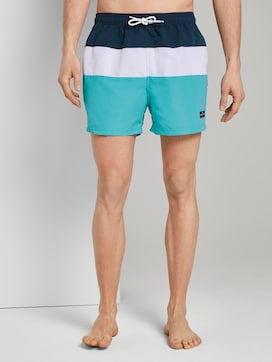 Striped swimming shorts - 1 - TOM TAILOR