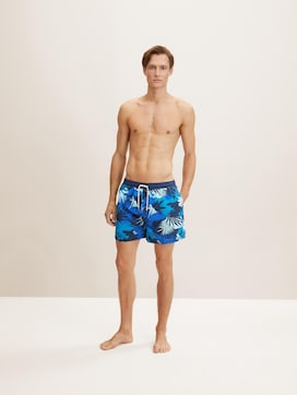 Swimming shorts in a tropical pattern - 1 - TOM TAILOR