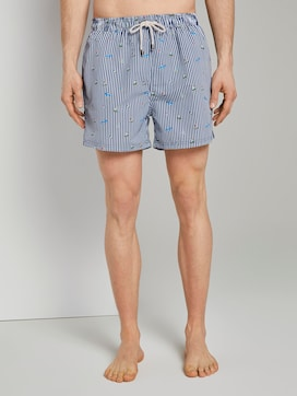 Patterned swimming shorts - 1 - TOM TAILOR