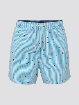 Patterned swimming shorts - 7 - TOM TAILOR