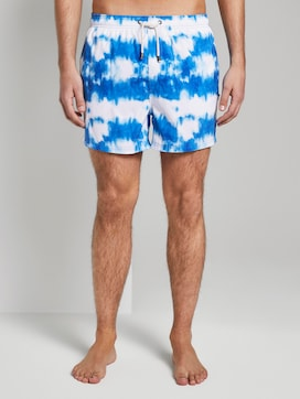 Swimming shorts in a batik pattern - 1 - TOM TAILOR