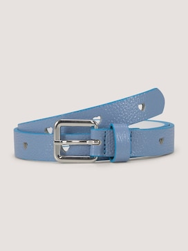 Glitter leather belt with a heart pattern - 7 - TOM TAILOR
