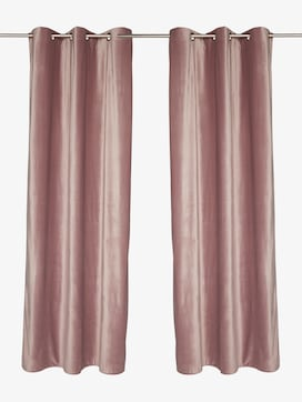 curtains with eyelet french velevet - 1 - TOM TAILOR
