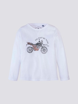 long-sleeved shirt with embroidery - 7 - TOM TAILOR