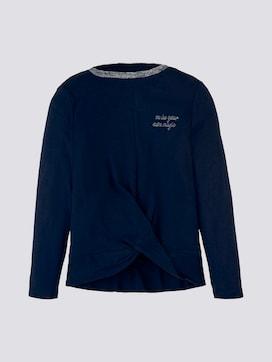 Shirt met lange mouwen en glitter - 7 - TOM TAILOR