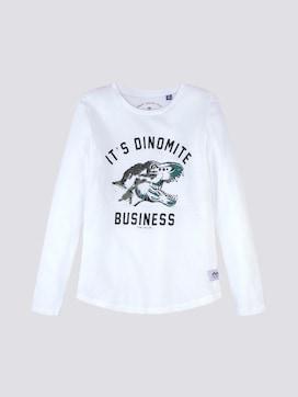 Long sleeve top with a dinosaur print - 7 - TOM TAILOR