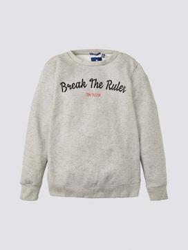 Meliertes Sweatshirt mit Print - 7 - TOM TAILOR