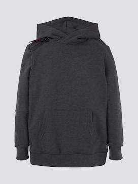 Hoodie with zip details - 7 - TOM TAILOR