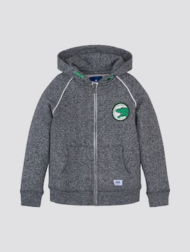 Melange sweatshirt jacket - 7 - TOM TAILOR