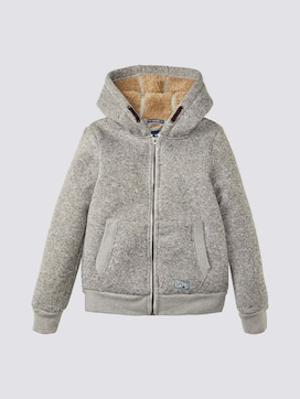 Hooded jacket with fleece lining - 7 - TOM TAILOR