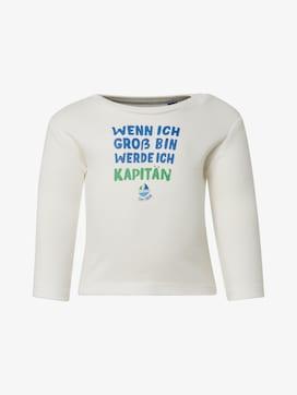 Langarmshirt mit Brust-Print - 7 - TOM TAILOR