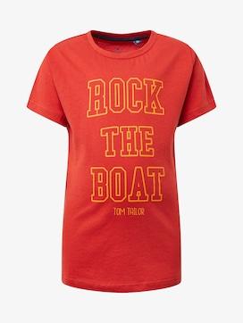 T-shirt met print op de borst - 7 - TOM TAILOR