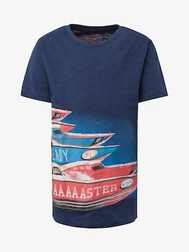 T-Shirt mit Print vorne - 7 - TOM TAILOR